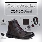 Combo Coturno 501 + Relogio/Carteira Café