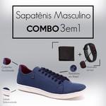 Como Sapatênis 8569 Azul + Relogio/Carteira