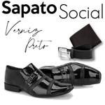 Sapato Social+CARTEIRA+CINTO REF 803VP