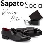 Sapato Social+CARTEIRA+CINTO Ref 801VP