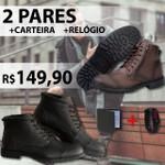Kit Com 2 Pares-502/506+relogio+carteira