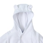 Casaco Plush com Orelhinhas Branco