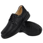 Sapato Masculino Conforto em Couro Preto Tipo Anti-Stress Galway 2002