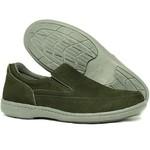 Sapato Sapatênis Masculino Casual em Couro Verde Militar Galway 2021-3