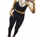 Top Cropped Feminino Preto Cole