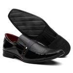 Sapato Social Masculino Verniz Estampado Preto