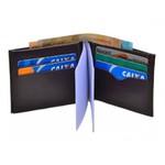 Carteira Porta Documentos Masculina Preta