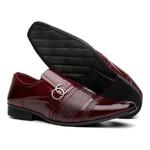 Sapato Social Masculino Com Carteira Cinto Verniz Vinho