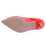 Sapato Feminino Scarpin Salto Médio Verniz Vermelho