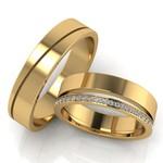 Aliança de Casamento em Ouro18k