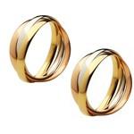 Aliança Cartier Para Casamento - Ouro Amarelo, Branco e Rosê
