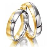 Aliança Bodas de Prata - Ouro 18k
