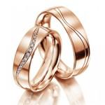 Aliança de Casamento - Ouro 18k com Brilhantes