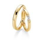 Aliança Para Casamento - Diamante Flutuante