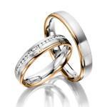 Aliança Bodas de Ouro com Diamante Prince