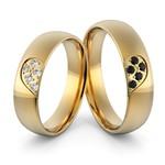Aliança em Ouro 18k com Diamantes e Onix