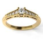 Solitário Ouro 18k Cravejado com Diamantes