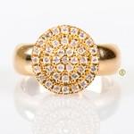 Anel em Ouro Amarelo 18k 750 com Brilhantes