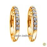 Aparador de Brilhantes em Ouro Amarelo 18k 750