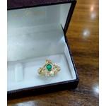Anel de Formatura em Ouro 18k com Diamantes com Pedra Natural