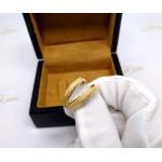 Par de Aparador em Ouro 18k Fosco e Diamantado