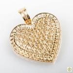 Pingente 18k Coração Cravejado