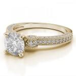 Anel Solitário em Ouro 18k com Diamante de 35 Pontos
