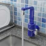 Torneira Elétrica Slim Azul Parede - Hydra