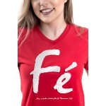 Camiseta Baby Look Fé Manuscrito