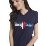Camiseta Baby Look Somos Tuas Mãos Logo Oficial