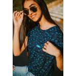 Camiseta Longline Feminina Azul IAP