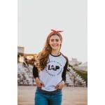 Camiseta raglan manga longa Feminino IAP