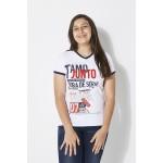 Camiseta Baby Look Fora de Série Tamo Junto