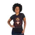 Camiseta Baby Look Leão e Cordeiro