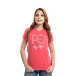 Camiseta Baby Look PG My Style Rosa