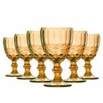 Jogo 6 Taças de Vidro para Água Elegance Amber Class Home