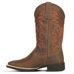 Bota Country Texana Masculina Couro Crazy Horse Café