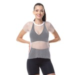 Camiseta Larulp Viena Fishnet Sleeve - BRANCO