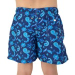 Paisley Azul - Shorts Adulto