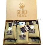 Kit com 5 Pacotes de Café Grão Arábica - Torrado e Moído 250g - Torra Média + 1 Xícara + Embalagem personalizada