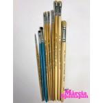Combo Kit de Pincéis Para Pintura em Tecido Completo Coleção Márcia Spassapan + Pata de Vaca Castelo (Com 11 Pincéis)