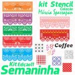 Kit Stencil Coleção Márcia Spassapan | Semaninha - Edição 11 + 7 Aulas + Risco A3