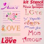 Kit Stencil Coleção Márcia Spassapan | Love - Edição 5