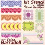 Kit Stencil Coleção Márcia Spassapan | Falso Barrado II - Edição 4