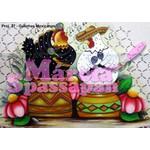 Projeto para Pintura com Foto e Risco Galinhas Mexicanas - Proj. 27