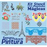 Kit Stencil Coleção Pinceladas Mágicas | Semana da Pintura - Edição 16