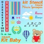Kit Stencil Coleção Márcia Spassapan | Kit Baby - Edição 15 + 6 Aulas + Risco A4