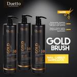 Kit Tratamento Gold Brush Duetto Profissional