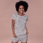 21767 - Pijama de verão em malha. - Estampado