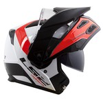 CAPACETE LS2 METRO EVO RAPID WHITE/RED